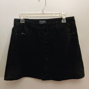 NWT Black Denim Miniskirt